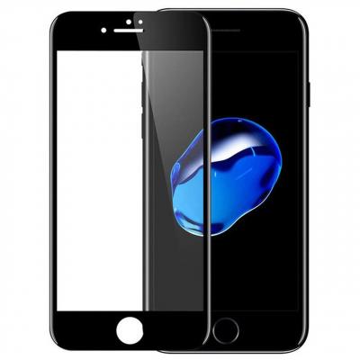 محافظ صفحه نمایش شیشه ای مدل 5D مناسب برای گوشی موبایل iPhone 7/8 Plus (مشکی براق)