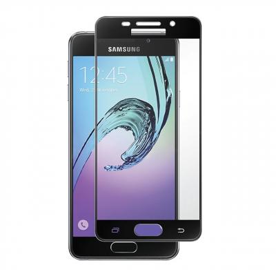 محافظ صفحه نمایش شیشه ای تمپرد مدل Full Cover مناسب برای گوشی موبایل سامسونگ Galaxy A5 2016 (مشکی)
