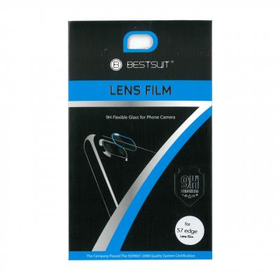 محافظ لنز دوربین شیشه ای بست سوئیت مدل 9H مناسب برای گوشی موبایل سامسونگ S7 Edge (بی رنگ شفاف)