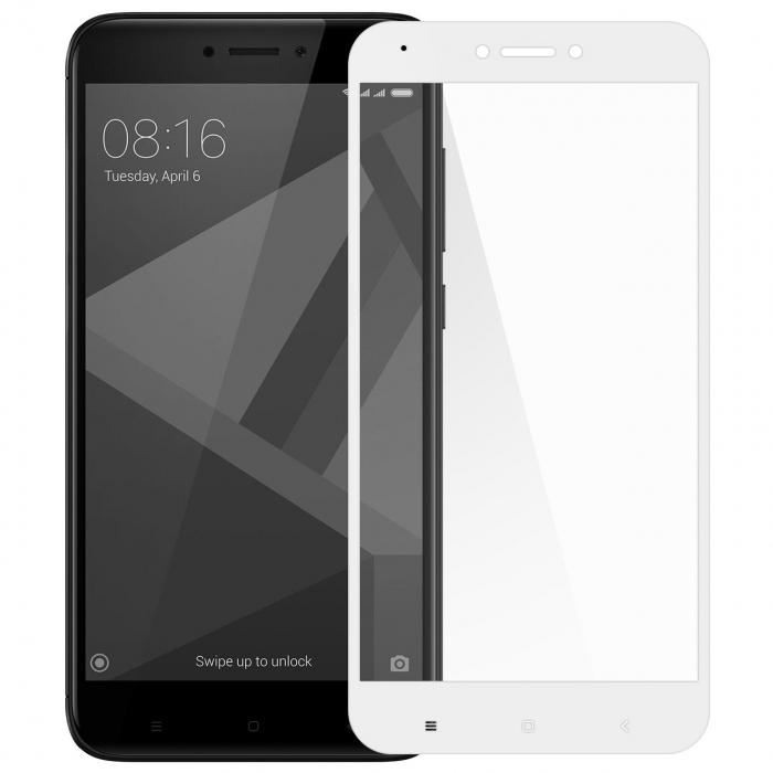 محافظ صفحه نمایش شیشه ای تمپرد مدل Full Cover مناسب برای گوشی موبایل شیائومی Redmi 4X