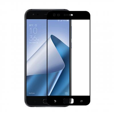محافظ صفحه نمایش شیشه ای تمپرد مدل Full Cover مناسب برای گوشی موبایل ایسوس Zenfone 4  ZE554KL (مشکی)