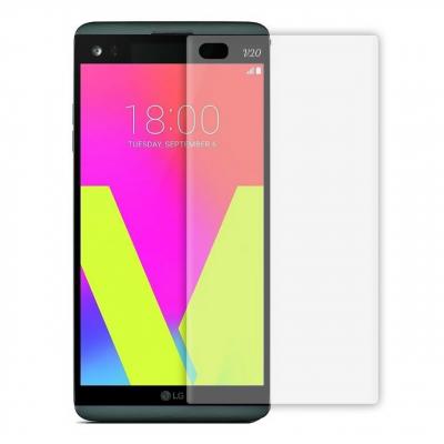 محافظ صفحه نمایش TPU مدل Full Cover مناسب برای گوشی موبایل ال جی V20 (بی رنگ)