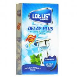 کاندوم لوتوس مدل DELAY PLUS بسته 12 عددی