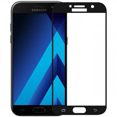محافظ صفحه نمایش شیشه ای تمپرد مدل Colorful Full Cover مناسب برای گوشی موبایل سامسونگ Galaxy A5 2017 (مشکی)