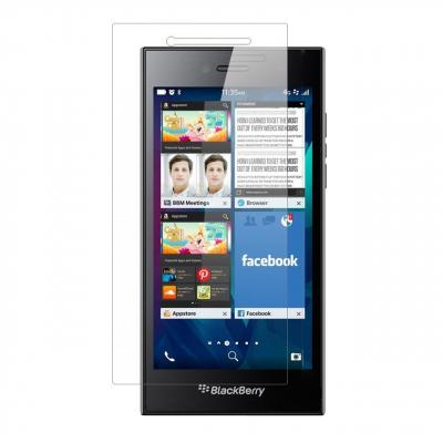 محافظ صفحه نمایش شیشه ای تمپرد مناسب برای گوشی موبایل بلک بری Leap (بی رنگ شفاف)