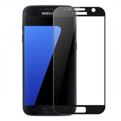 محافظ صفحه نمایش شیشه ای تمپرد مدل Full Cover مناسب برای گوشی موبایل  سامسونگ Galaxy S7 (سفید)