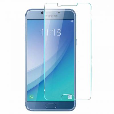 محافظ صفحه نمایش شیشه ای 9 اچ مناسب برای گوشی سامسونگ C5 Pro (بی رنگ)