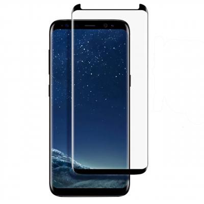 محافظ صفحه نمایش تمپرد مدل فول چسب مینی ورژن مناسب برای گوشی موبایل سامسونگ Galaxy S8 Plus (مشکی)