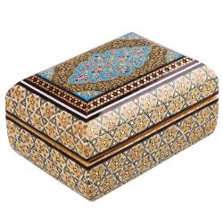 جعبه جواهرات خاتم کد 141098 (قهوه ای)