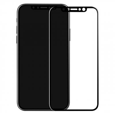 محافظ صفحه نمایش شیشه ای بوف مدل 5D مناسب برای گوشی آیفون 10/X (مشکی)