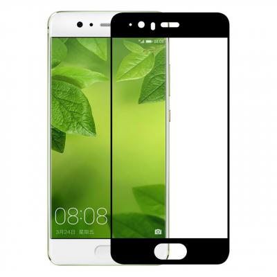 محافظ صفحه نمایش شیشه ای تمپرد مدل Full Cover مناسب برای گوشی موبایل هوآوی P10 (مشکی)