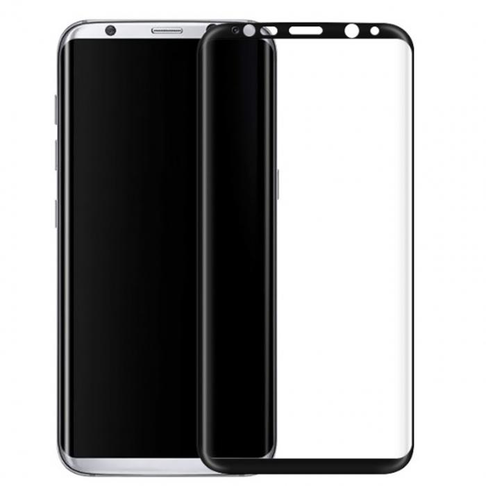 محافظ صفحه نمایش شیشه ای تمپرد مدل Full Cover مناسب برای گوشی موبایل سامسونگ Galaxy S8