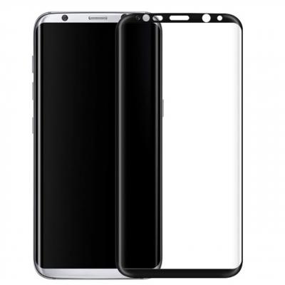 محافظ صفحه نمایش شیشه ای تمپرد مدل Full Cover مناسب برای گوشی موبایل سامسونگ Galaxy S8 (طلایی)
