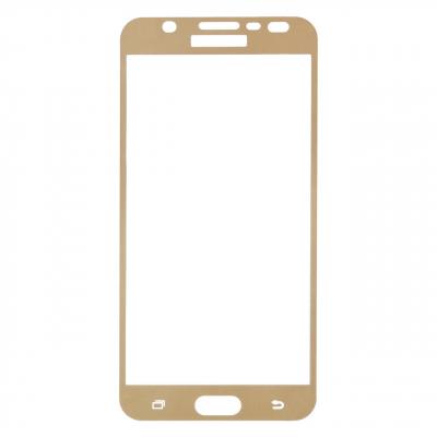 محافظ صفحه نمایش شیشه ای تمپرد مدل Full Cover مناسب برای گوشی موبایل سامسونگ Galaxy J7 Prime (طلایی)
