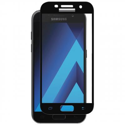 محافظ صفحه نمایش تمپرد مدل فول چسب مناسب برای گوشی موبایل سامسونگ Galaxy A3 2017 (طلایی)