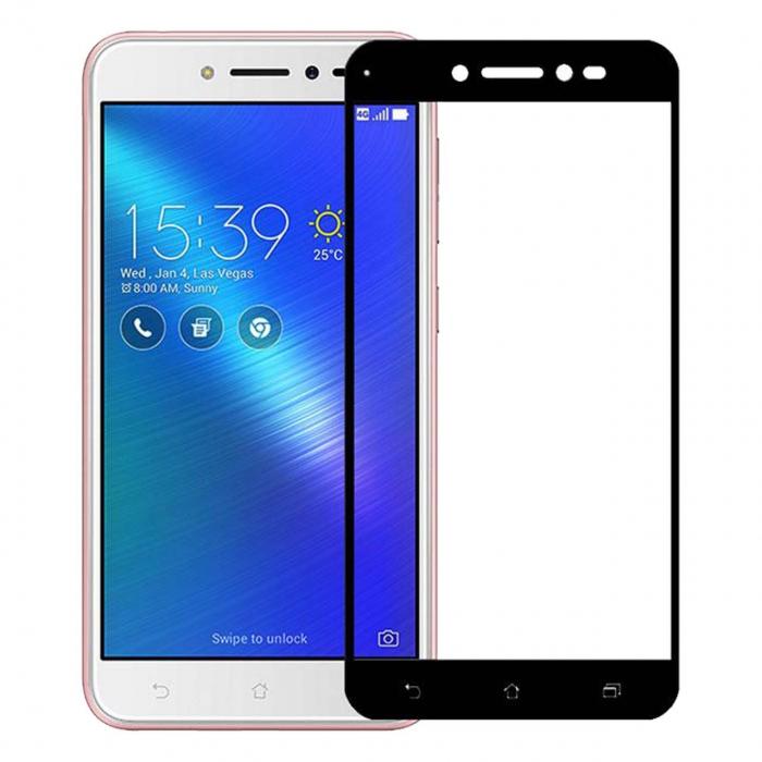 محافظ صفحه نمایش شیشه ای تمپرد مدل Full Cover مناسب برای گوشی موبایل ایسوس Zenfone Live