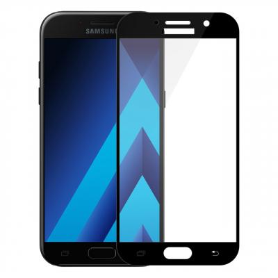 محافظ صفحه نمایش تمپرد مدل فول چسب مناسب برای گوشی موبایل سامسونگ Galaxy A7 2017 (مشکی)