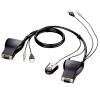 سوییچ 2 پورت USB KVM دی-لینک مدل KVM-222 با جک 3.5 میلیمتری صدا