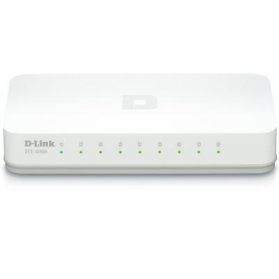 سوییچ 8 پورت گیگابیتی و دسکتاپ دی-لینک مدل DGS-1008A (سفید)