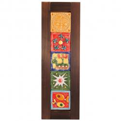 تابلوی پنج سفال عمودی گالری رس  کد 172003 سایز (free)