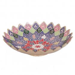شیرینی خوری برنجی دکوکالا کد 185014 (چند رنگ)