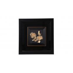 تابلوی طلاکوب گالری الون طرح گل و پروانه کد 198156 سایز (free)