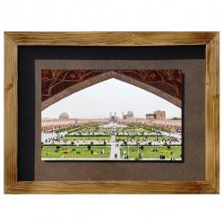 تابلو عکس گالری سیب کد147012 طرح میدان نقش جهان سایز (free)