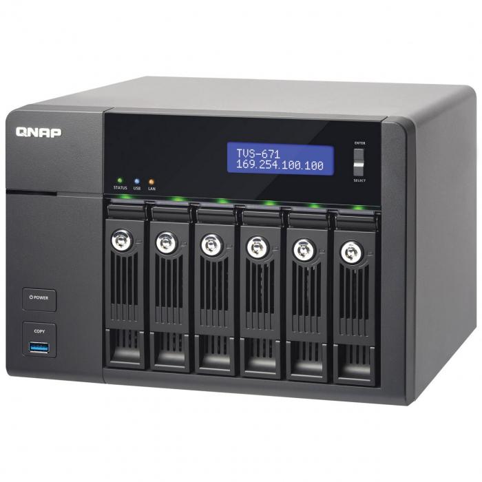 ذخیره ساز تحت شبکه کیونپ مدل TVS-671 فاقد هارددیسک