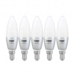لامپ ال ای دی تکنوتل مدل 303 پایه E14 بسته 5 عددی (مهتابی)