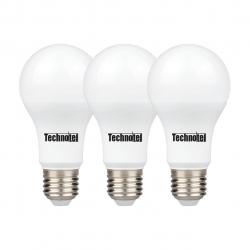 لامپ ال ای دی 12 وات تکنوتل مدل 312 پایه E27 بسته 3 عددی (مهتابی)