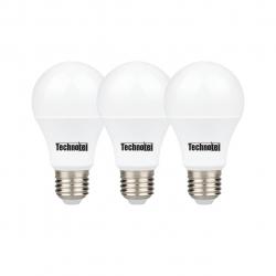 لامپ ال ای دی 9 وات تکنوتل مدل 309 پایه E27 بسته 3 عددی (آفتابی)