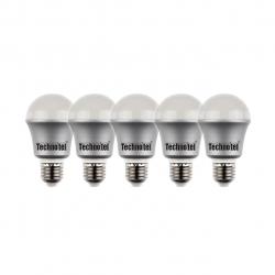 لامپ ال ای دی 6 وات تکنوتل مدل 406 پایه E27 بسته 5 عددی (آفتابی)