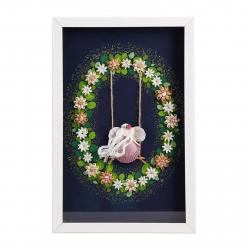 تابلو کلاژ صدف گالری هنر پویان بوشهر طرح بهشت کد 240001 سایز (free)