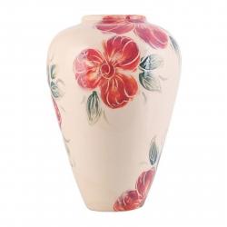 گلدان سرامیکی فرتاش مدل قشقایی کد 171092 (کرم)