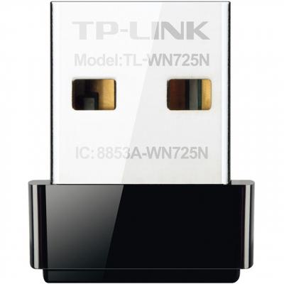 کارت شبکه USB بی سیم N150 Nano تی پی-لینک مدل TL-WN725N (مشکی)