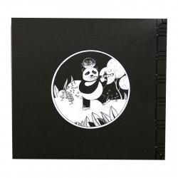 دفتر دست ساز نارنج سری سپیدت را بردار طرح حیوانات سیاه و سپید 3 سایز 23 × 23 (مشکی - سفید)