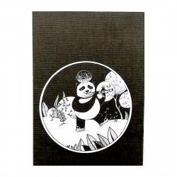 دفتر دست ساز نارنج سری سپیدت را بردار طرح حیوانات سیاه و سپید 3 سایز 14 × 10 (مشکی - سفید)
