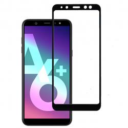 محافظ صفحه نمایش شیشه ای بوف مدل 5D مناسب برای گوشی Samsung A6 2018 (مشکی)