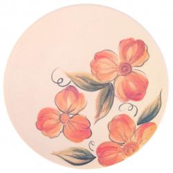 بشقاب سرامیکی گالری فرتاش کد 171056 طرح گل قرمز (کرم)