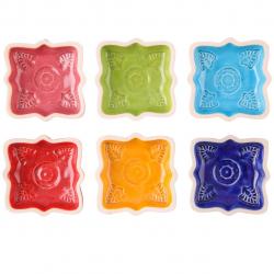 مجموعه شش عددی ظروف سفالی گالری آسوریک کد 86084 (چند رنگ)