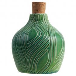 بطری سرامیکی اروشا طرح کنده کد 103039 (سبز)
