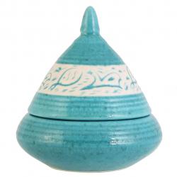 شکلاتخوری مخروطی گالری فرتاش فیروزهای طرح ماهی کد 171008 (بی رنگ)