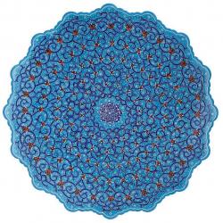 بشقاب میناکاری اثر ابوالقاسمی کد 170179 (مشکی)