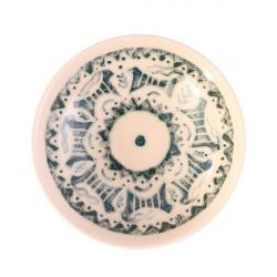کاسه تخت سرامیکی گالری فرتاش کد 171016 طرح بز شوش (بی رنگ)