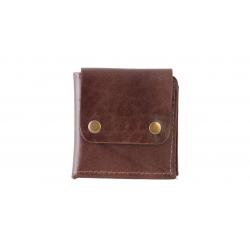کیف پول گالری ستاک طرح دو دکمه کد 81025 (قهوه ای روشن)