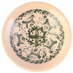 کاسه سرامیکی گالری فرتاش کد 171072 طرح بز و مار (بی رنگ)