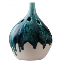 گلدان سرامیکی وریس کد 169036 (آبی)