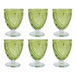 لیوان شیشه ای گالری سیلیس مجموعه شش عددی (آبی)