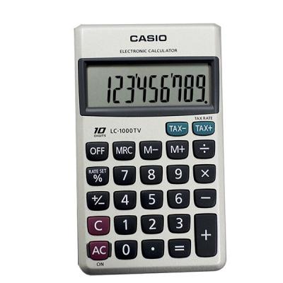 ماشین حساب کاسیو LC-1000 TV (نقره ای)