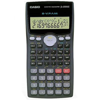ماشین حساب کاسیو FX-100-MS (مشکی)